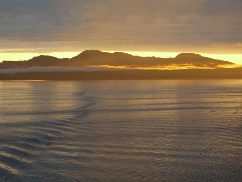 Inside passage sunset